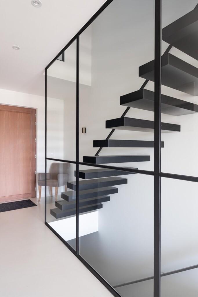 Glazen balustrades met steellook
